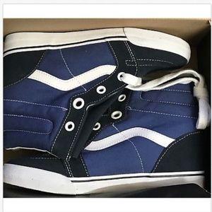 a348d9d964c Vans Shoes - Vans Sk8 Hi Wedge Navy True White Shoes🌹